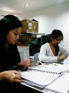 Some of them working hard.. impressing. ahakz