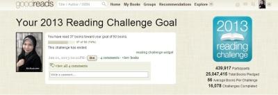 2013 book challenge